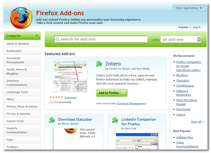 New Firefox Add-ons Website