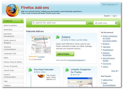 New Firefox Add-ons Website