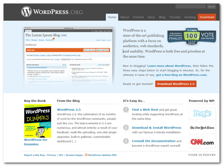 WordPress.org 2008 New Design