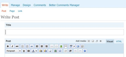 WP 2.5 Admin Comments