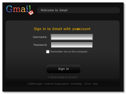 New Gmail Login
