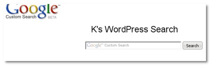 K\'s WordPress Search