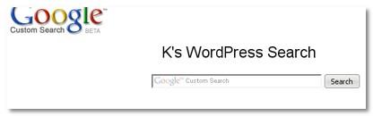 K\'s WordPress Search
