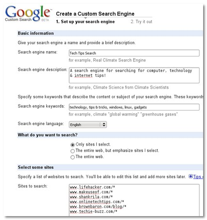 K\'s Tech Search Engine